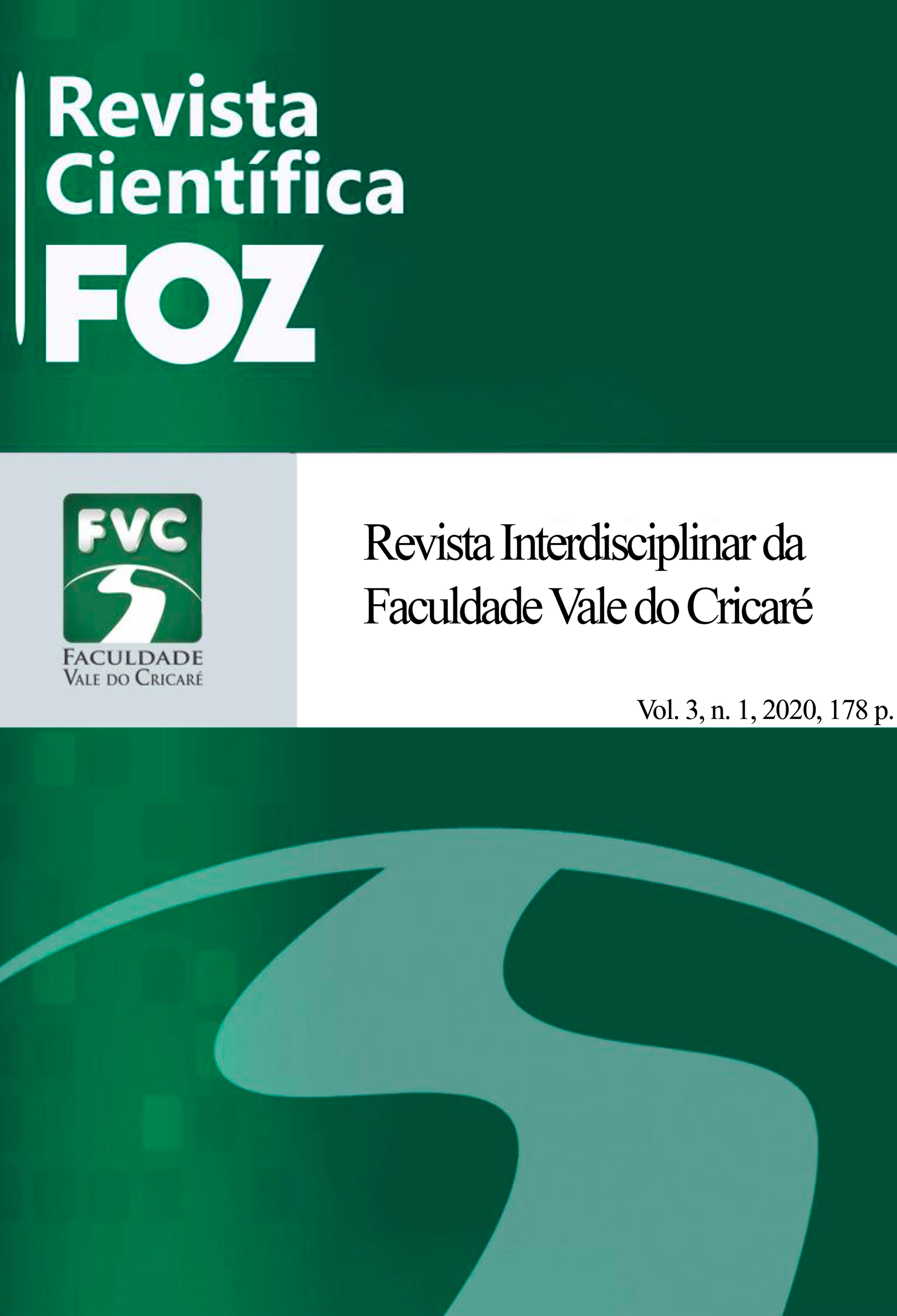 Visualizar v. 3 n. 1 (2020): Revista Científica FOZ: Dossiê Águas